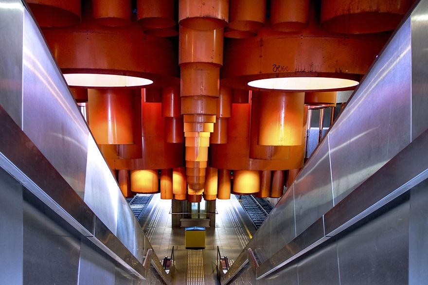 Metro Station Pannenhuis - Brussels
