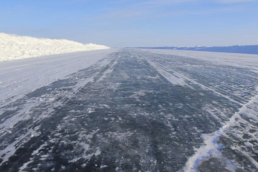Ice Road Between Inuvik And Tuktoyaktuk, North West Territories, Canada