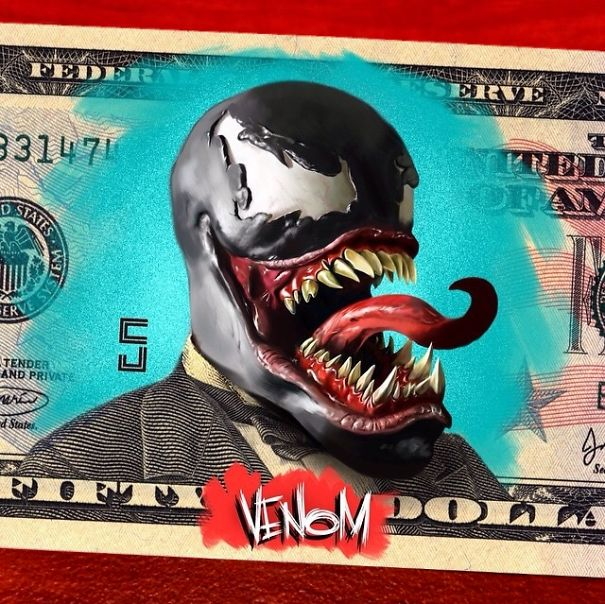 The Art On Money: I Turn U.S. Presidents Into Super Heroes And Villains