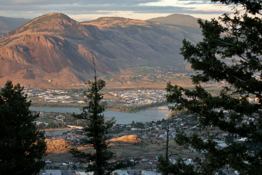 Kamloops At Sunset