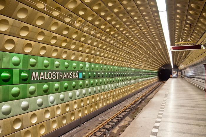 Malostranská Station In Prague.