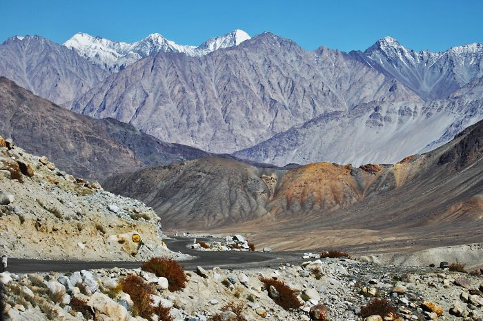 A Road In Indian Himalayas, Ladakh, India