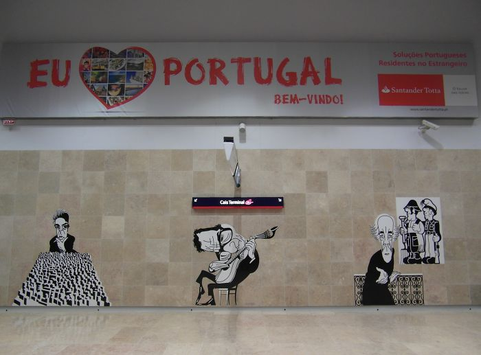 Lisbon Airport Metro Station, Portugal