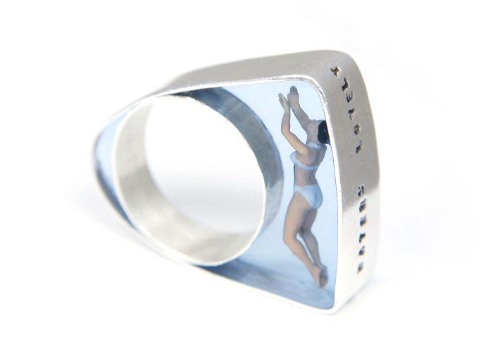 Swimmer Ring By Helen Noakes