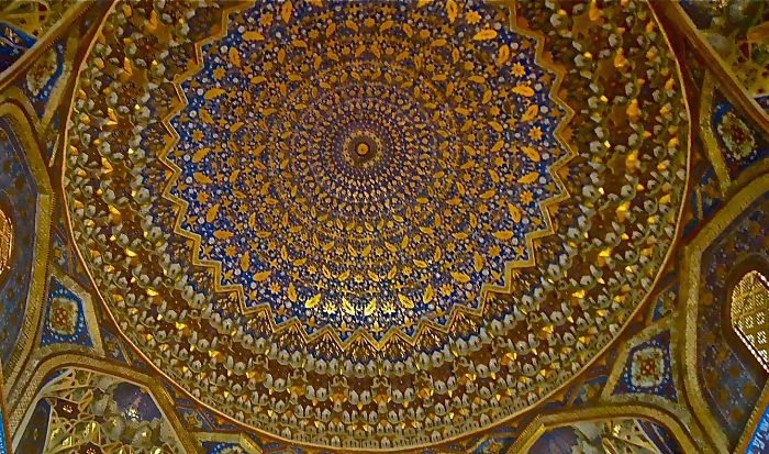 The Ceiling Inside The Mausoleum Of Amir Taimur, Samarkand, Uzbekistan