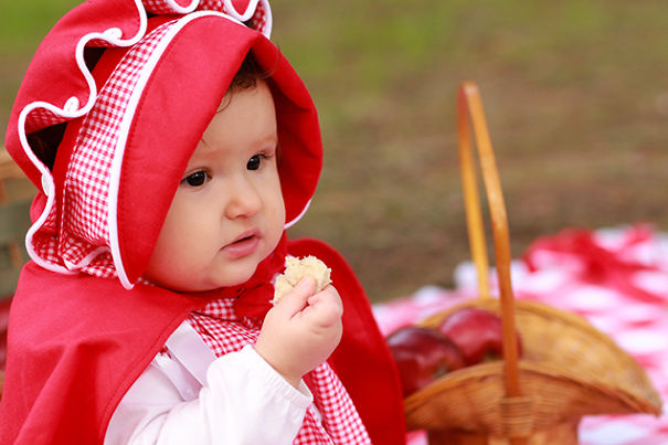 Photographer Dad And Designer Mom Photographed Their Baby Girl As Little Red Riding Hood