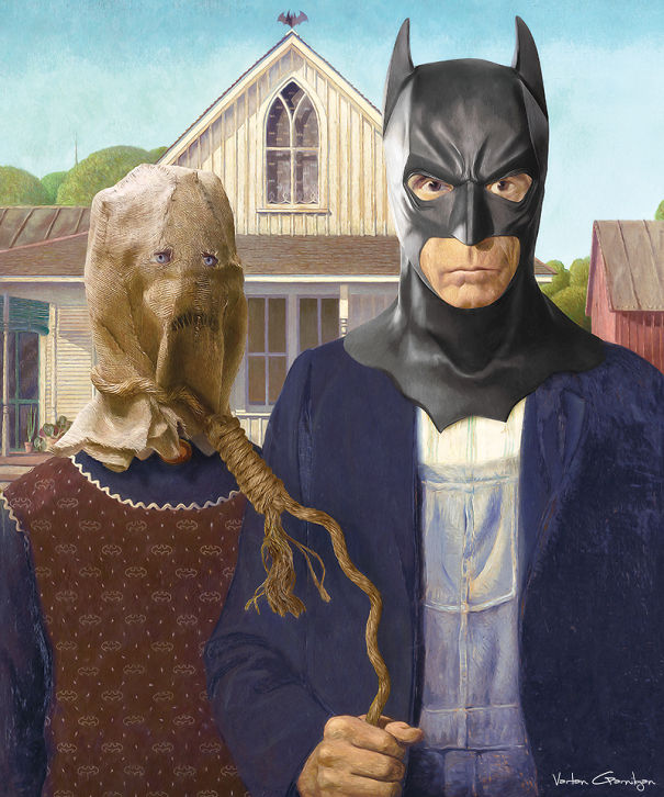 Famous Paintings Reimagined As Scenes From Batman  Bored ...