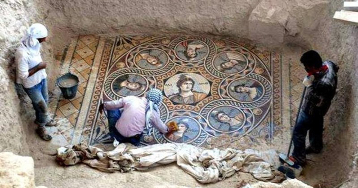 2,000-Year-Old Mosaics Uncovered In Turkey Before Being Lost To Flooding