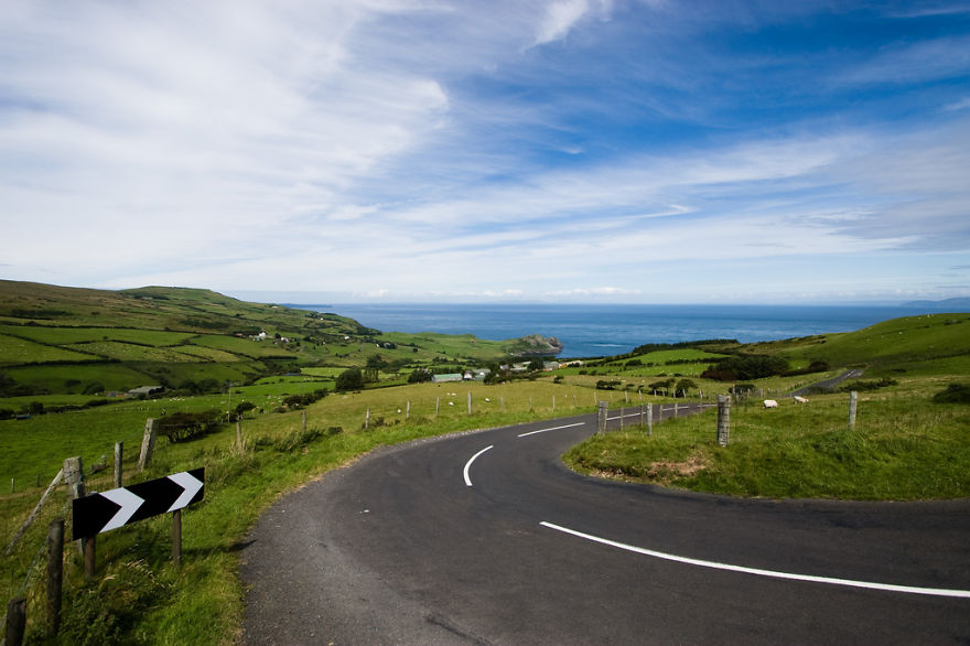 Antrim Coast Road, Northern Ireland.