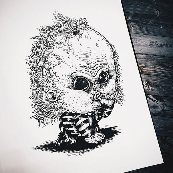 baby-terrors-iconic-horror-monsters-illustrations-alex-solis-21