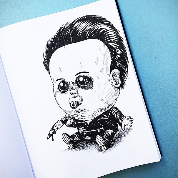 baby-terrors-iconic-horror-monsters-illustrations-alex-solis-7