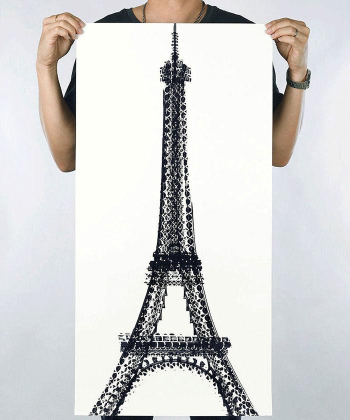 Singaporean Artist Uses Bike Tires To Paint Famous Landmarks