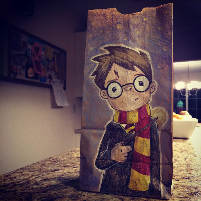 Divorced Mom Bonds With Her Kids By Drawing Cool Lunch Bag Illustrations