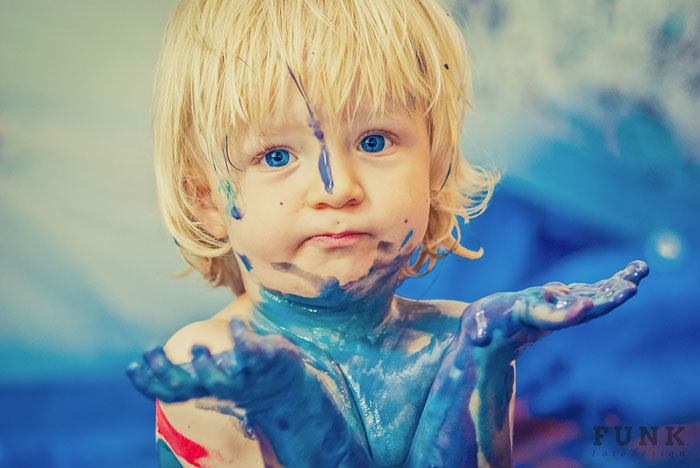 Take A Room Full Of Children And Add Some Paint. Watch What Happenes Next