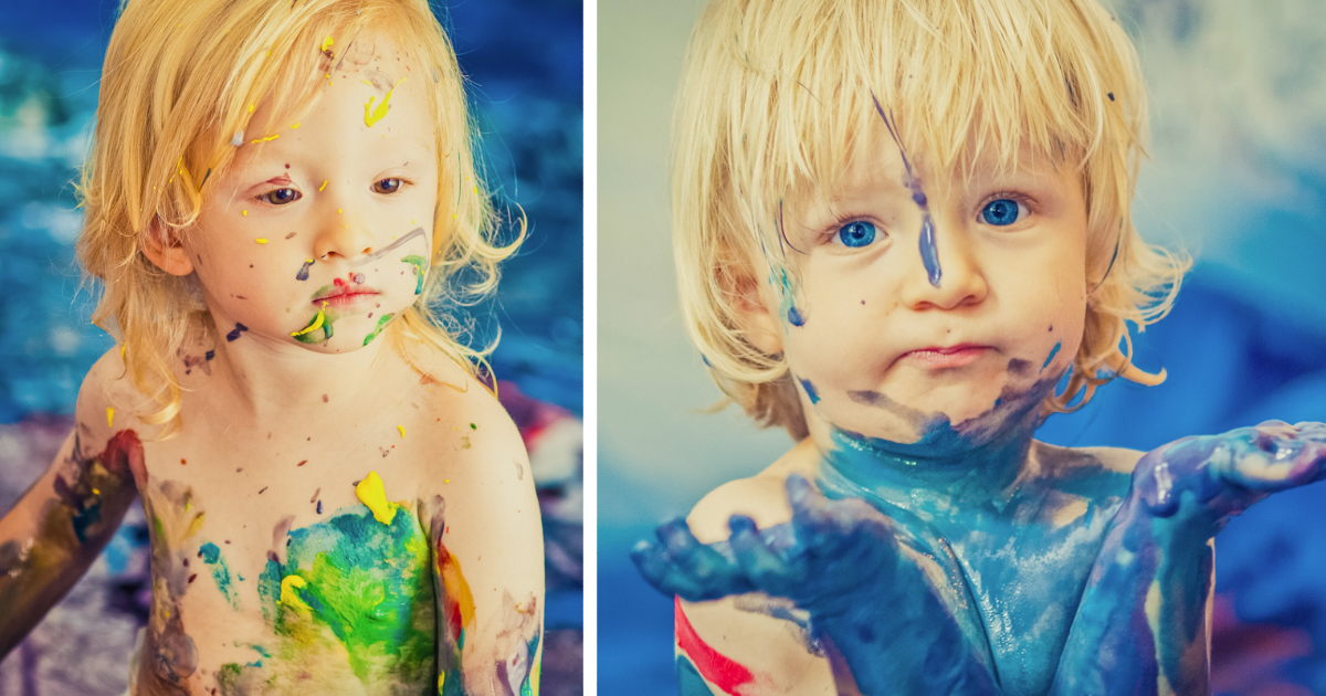 Image result for photos of children with paint