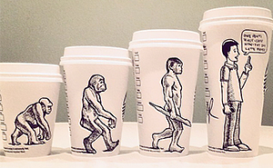 Man Turns Starbucks Cups Into Fun Comics