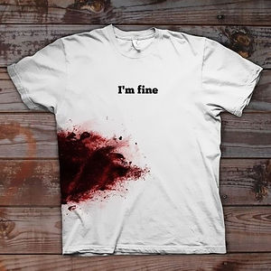 """i'm Fine"" T-shirt"