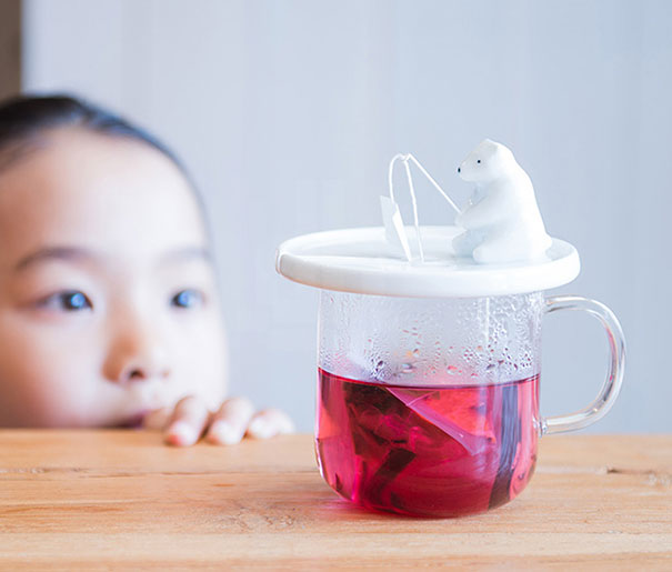 3 Polar Bear Tea Bag Holder