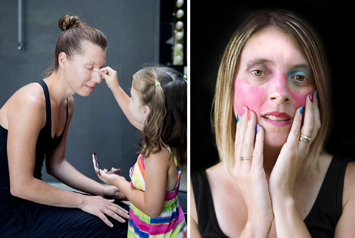 Little Girls Do Their Mothers' Makeup
