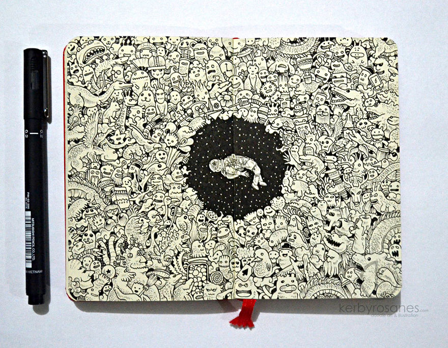 New Incredibly Detailed Pen Doodles By Kerby Rosanes