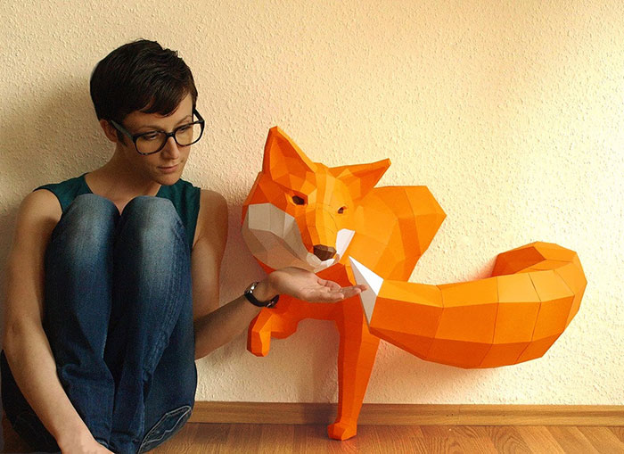 Geometric Paper Animal Sculptures By Wolfram Kampffmeyer