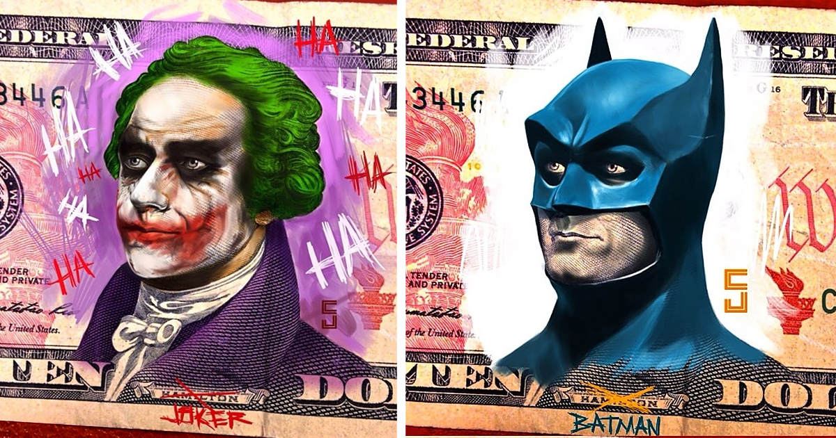 The Art On Money I Turn U S Presidents Into Super Heroes And