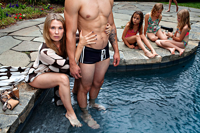 Domestic Bliss: Mother Of Two Takes Darkly Humorous Family Photos