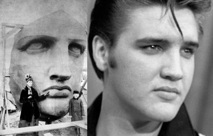 Statue Of Liberty And Elvis Presley