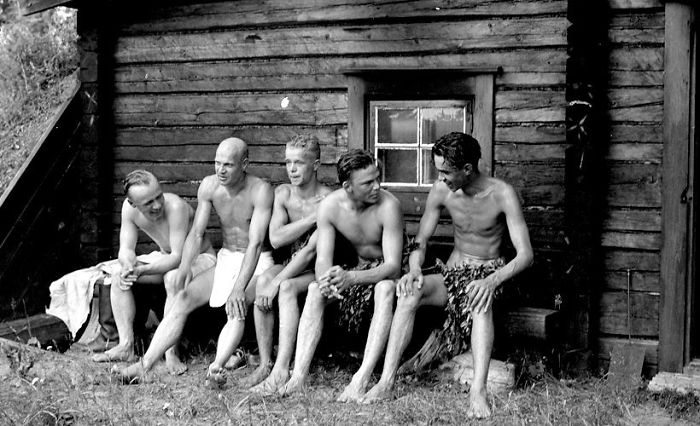 Unknow Finnish Soldiers After Sauna, Continuation War