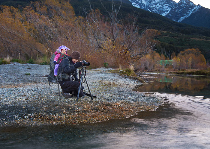 Photographer Parents Take Their Kids On Their Backs For Epic Landscape Photoshoots