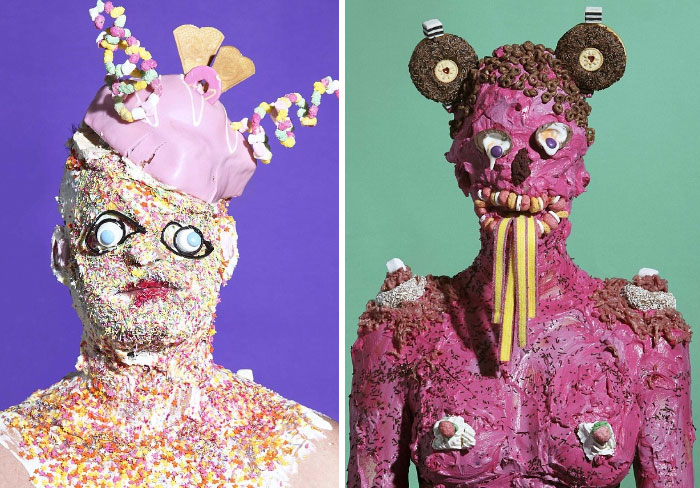 Artist Creates Bizarre Portraits Of People Covered In Fast Food