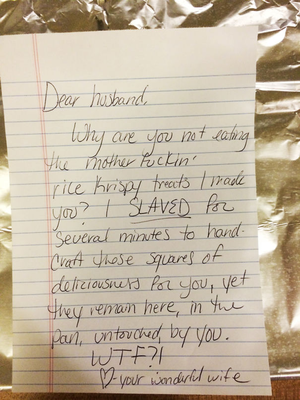 15 Hilarious Love Notes That Illustrate The Modern Relationship – Love Letter to My Husband