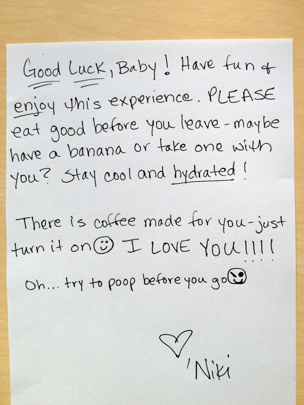 15 hilarious love notes that illustrate the modern relationship 12 good luck note spiritdancerdesigns Image collections