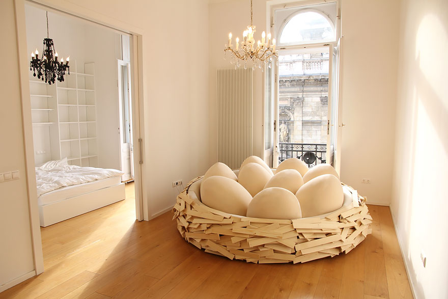 Giant Birds Nest Bed Design Oge Creative Group