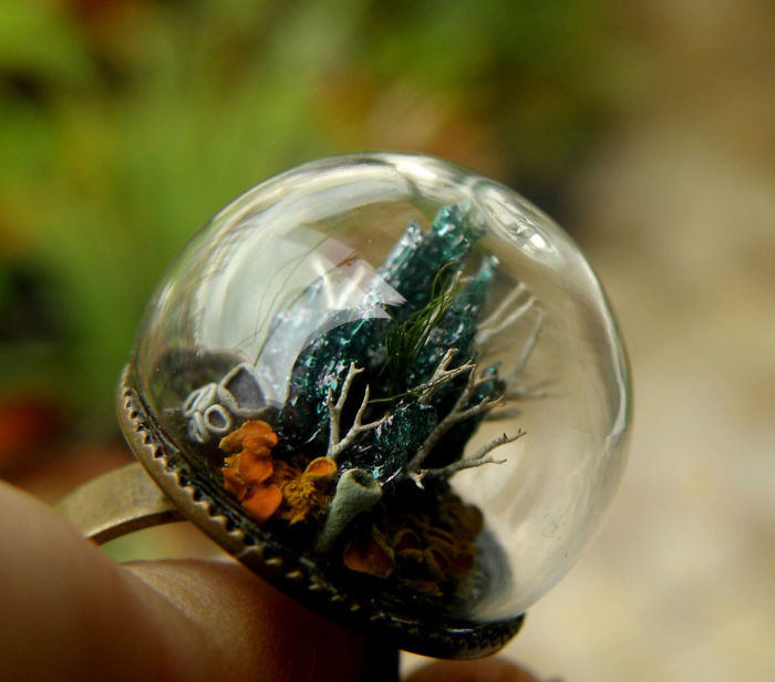 Forest Globe Ring