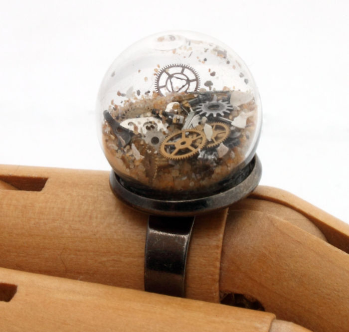 Steampunk Globe Ring