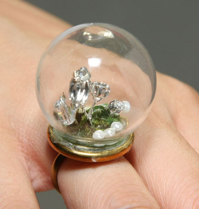 Growing Crystals Ring