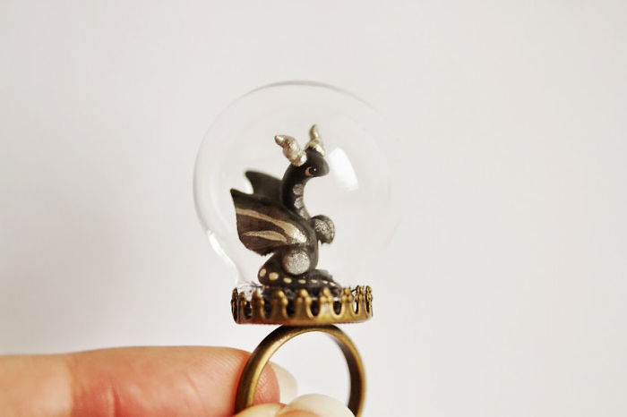Dragon Globe Ring