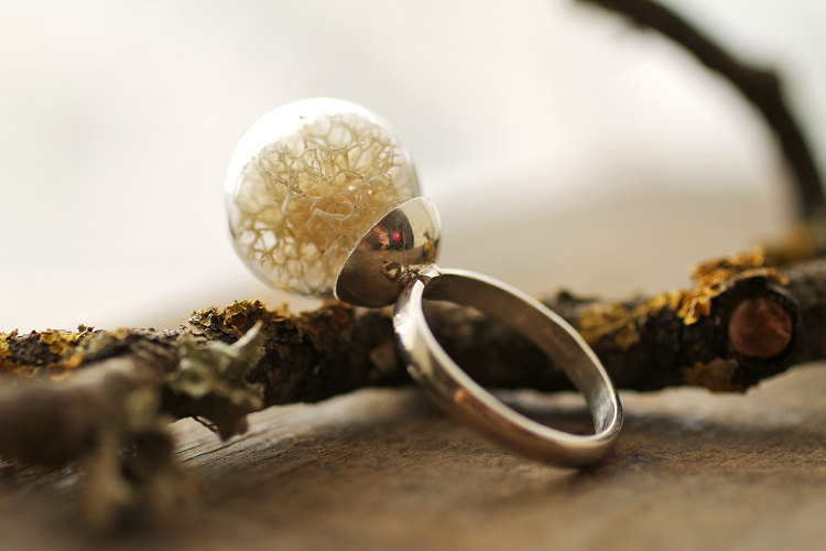 White Moss Ring