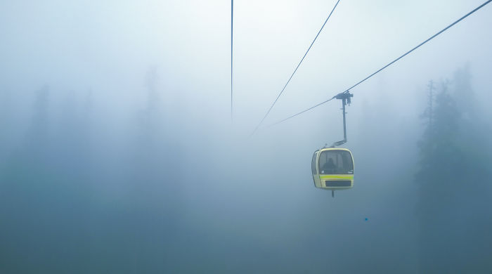From Out Of Nowhere, Cable Car, Gulmarg, Kashmir, India