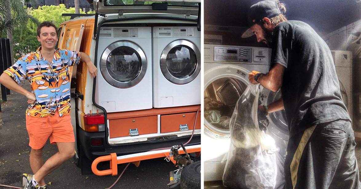 Two Friends Turned Their Van Into A Mobile Laundromat To