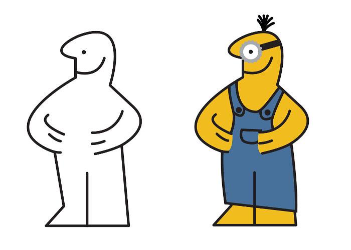 Ikea Man Turned Into Famous Cartoon Characters
