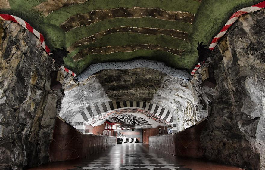Kungstradgarden Metro Station, Stokholm, Sweden