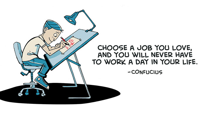 Inspirational Quotes By Famous People Adapted Into Cartoons