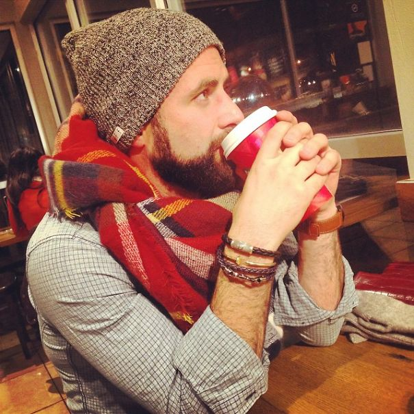 The Cozy Coffee Shot #Blanket Scarf