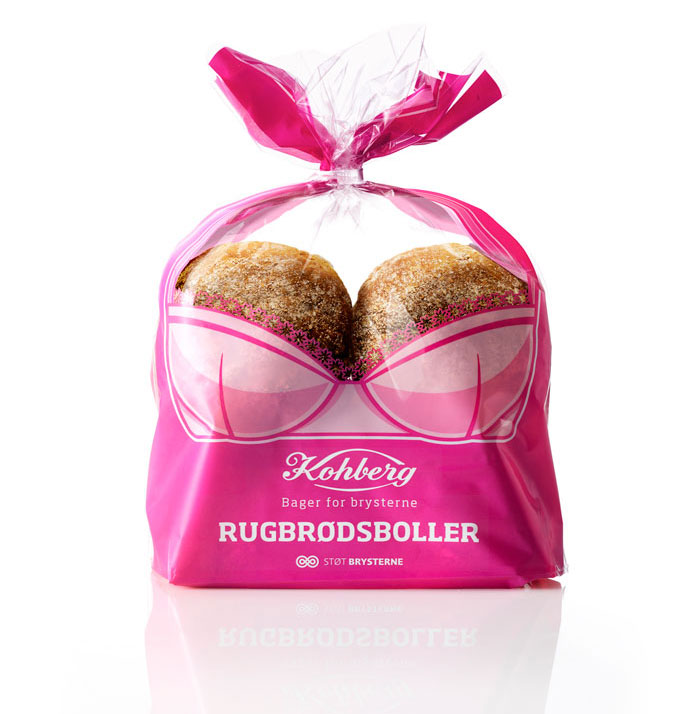 """Kohberg, """"support The Breasts"""" Bread Packaging"""