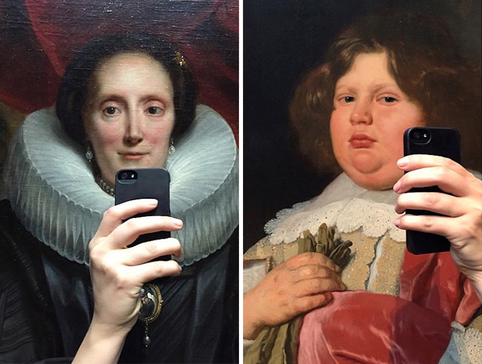 This Woman Made Old Museum Paintings Take Selfies