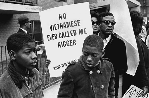 African Americans Protest Against The War In Vietnam During The Harlem Peace March, 1967