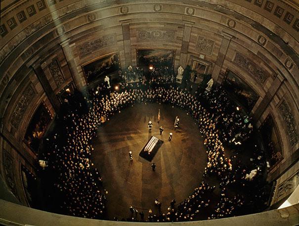 Bird's Eye View Of Jfk's Funeral In The Capitol Building, November, 1963