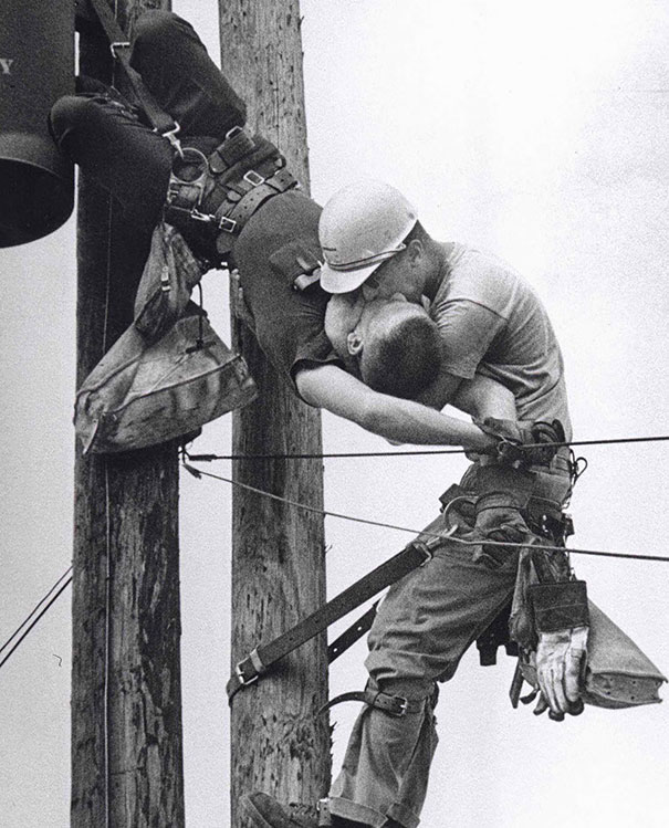 The Kiss Of Life – A Utility Worker Giving Mouth-to-mouth To Co-worker After He Contacted A High Voltage Wire, 1967